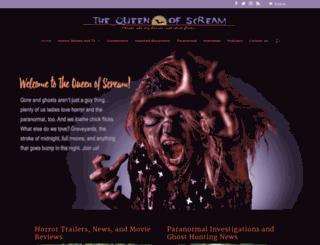 thequeenofscream.com screenshot