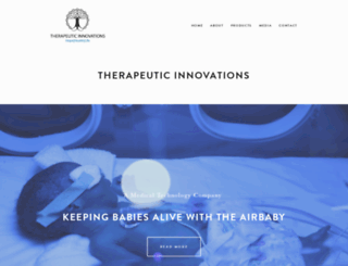 therapeuticinnovations.org screenshot