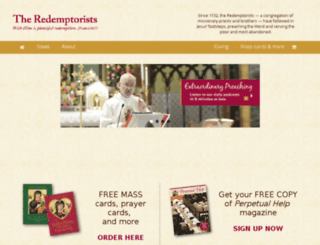 theredemptorists.org screenshot