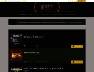 theregencyballroom.com screenshot
