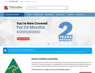 thermoline.com.au screenshot