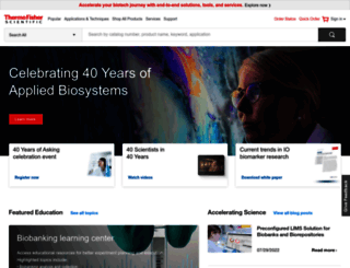 thermoscientific.com screenshot