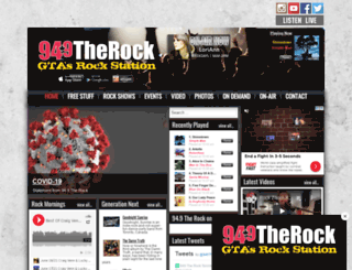 therock.fm screenshot