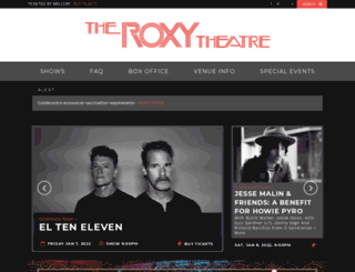theroxy.com screenshot