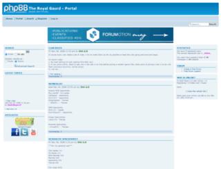 theroyalgaurd.forumotion.co.uk screenshot