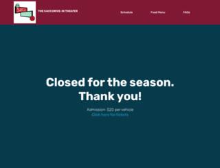 thesacodrivein.com screenshot