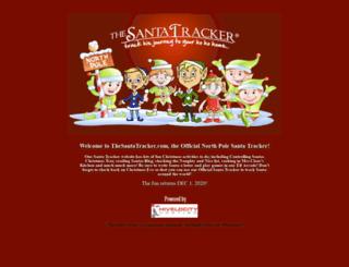 thesantatracker.com screenshot