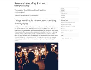 thesavannahweddingplanner.com screenshot