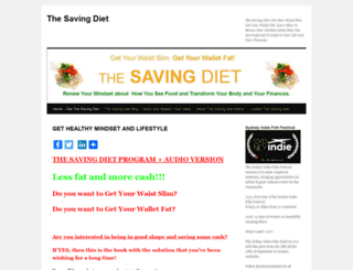 thesavingdiet.com screenshot