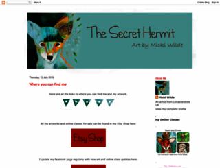 thesecrethermit.blogspot.com screenshot