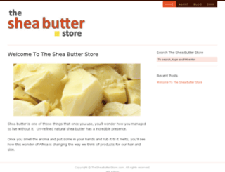 thesheabutterstore.com screenshot