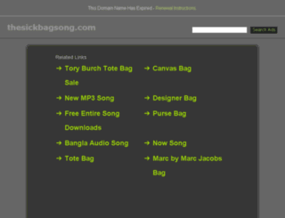 thesickbagsong.com screenshot