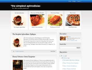 thesimplestaphrodisiac.blogspot.com screenshot