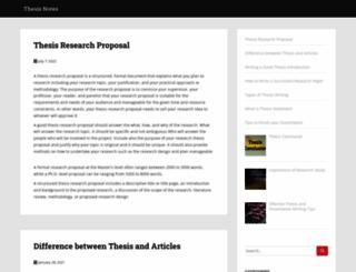 thesisnotes.com screenshot