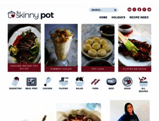 theskinnypot.com screenshot