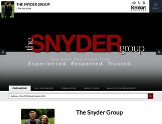 thesnydergroup.reinhartrealtors.com screenshot