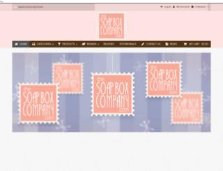 thesoapboxco.com screenshot