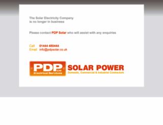 thesolarelectricitycompany.com screenshot