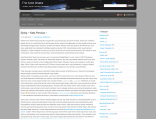 thesolidsnake.wordpress.com screenshot