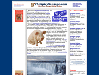 thespicysausage.com screenshot