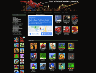 thespidermangames.com screenshot