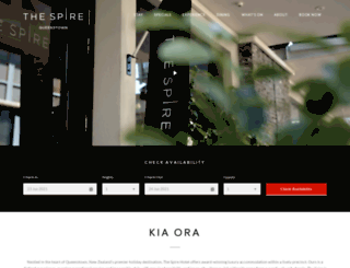 thespirehotel.com screenshot
