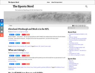 thesportsnerd.us screenshot