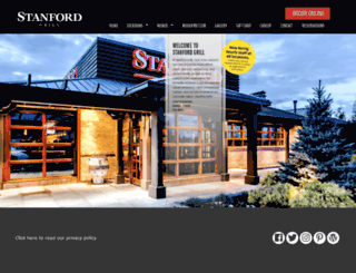 thestanfordgrill.com screenshot