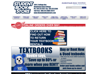 thestudentbookstore.com screenshot