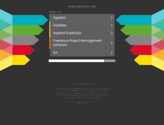 thesubfactory.net screenshot