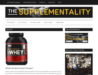 thesupplementality.com screenshot