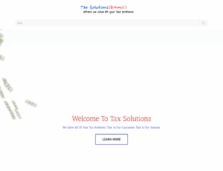 thetaxsolutionhq.com screenshot