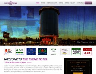 thethemehotel-jaipur.com screenshot