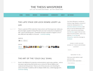thethesiswhisperer.wordpress.com screenshot