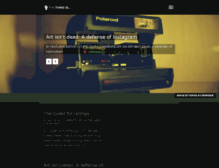 thethingis.co.uk screenshot