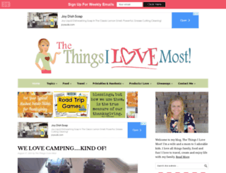 thethingsilovemost.com screenshot