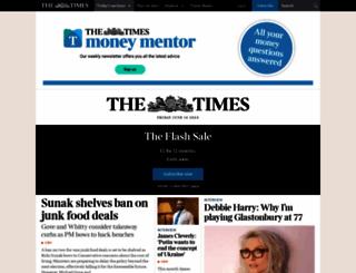 thetimes.com screenshot