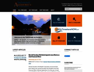 thetimeshareauthority.com screenshot