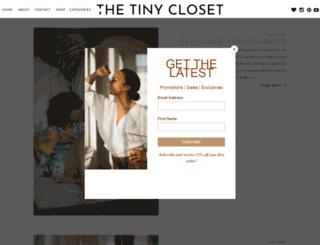 thetinycloset.com screenshot