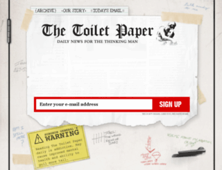 thetoiletpaper.com screenshot