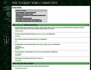 thetolkienwiki.org screenshot
