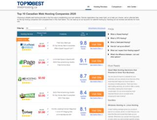 thetop10webhosting.ca screenshot