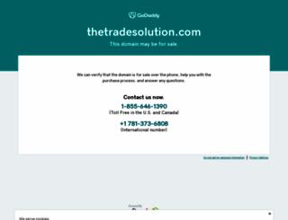thetradesolution.com screenshot