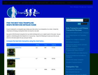 thetrampolinemom.com screenshot