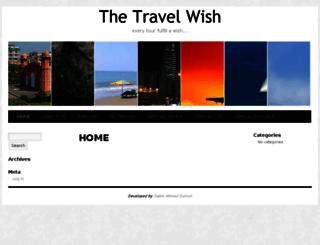 thetravelwish.com screenshot