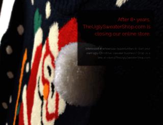 theuglysweatershop.com screenshot