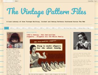 thevintagepatternfiles.blogspot.co.uk screenshot