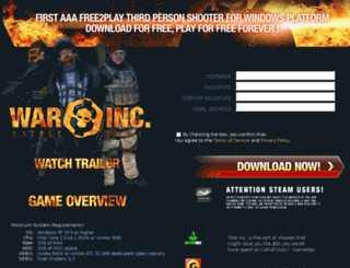 thewarinc.com screenshot