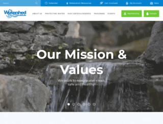 thewatershedinstitute.org screenshot