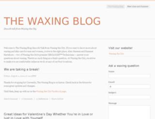 thewaxingblog.com screenshot